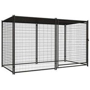 Hundezwinger aus Gittermatten schwarz 4,6  m²