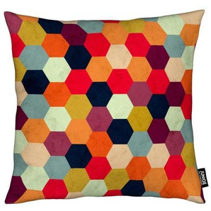Dekokissen, Colorful Beehive Pattern, Juniqe