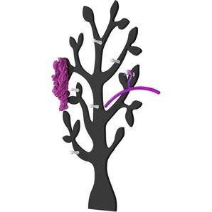 Wandgarderobe »Baum« mit 7 Haken, in vielen verschiedenen Farben, schwarz