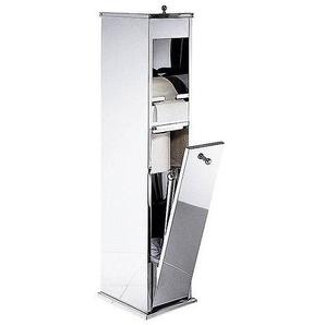 WC-Ständer aus Edelstahl, metall, Gr. 73/14.5/20 cm,  home
