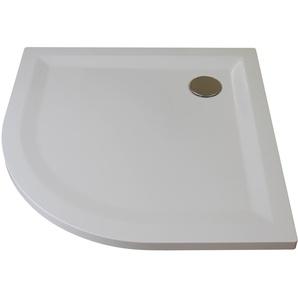 Breuer Duschwanne Flat Line Design 90 x 90 cm, r 55 cm weiß