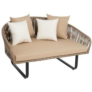Polyrattan Lounge Gartenmöbel Sonneninsel XXL Sessel 140 cm Rattan Sitzgruppe - ESTEXO