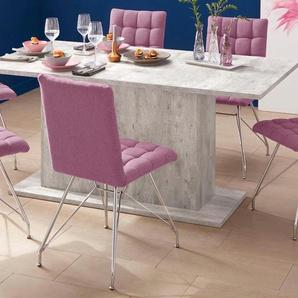 4-Fußstuhl, rosa, 2 Stück, Homexperts