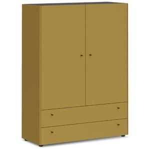 Schöner Wohnen Garderobenschrank, Gelb, Lack / Hochglanz