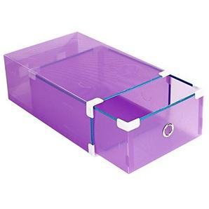axusndas faltbar, stapelbar, modulares Transparentes Kunststoff-Schuhregal mit Deckel für Frauenschrank, Jede Schublade