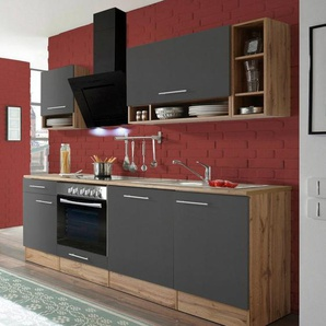 RESPEKTA Komplett-Set: Küchenzeile mit E-Geräten »Lübeck«, Breite 220 cm