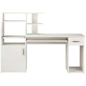 PC-Schreibtisch »Don« mit Tastaturauszug, weiß