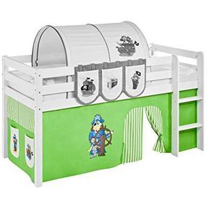 Vorhang Pirat Grün Beige - für Hochbett, Spielbett und Etagenbett