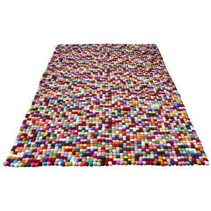 Home Affaire Wollteppich  »Maja«, 160x230 cm, strapazierfähig, 22 mm Gesamthöhe, bunt