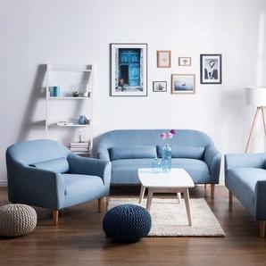 3-Sitzer Sofa Polsterbezug hellblau ODENSE