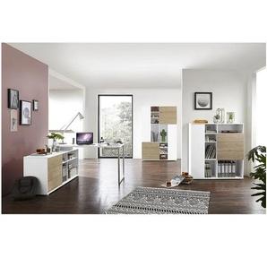 Möbel-Set »Paseo« 3-teilig, Kompaktschreibtisch Bügelfuß + 2x Aktenschrank eiche, Germania-Werke