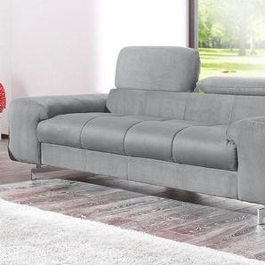 COTTA 2-Sitzer, grau, Luxus-Microfaser