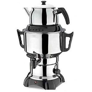 Uzman-Versand Armagan Samowar 3,5L +1L, Elektrisch Teekanne Teeautomat Teekocher Teebereiter Teemaschine Cay Demlik