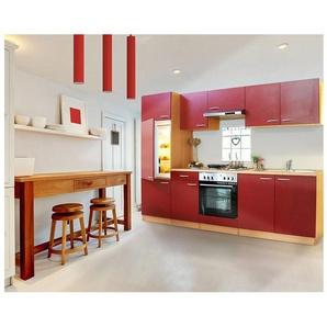 Respekta Küchenzeile Mit Glaskeramik Kochfeld »Basic«, Breite 270 Cm