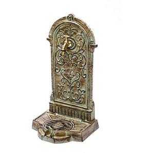 Standbrunnen 64cm 11kg Waschbecken Brunnen Eisen grün Wandbrunnen antik Stil