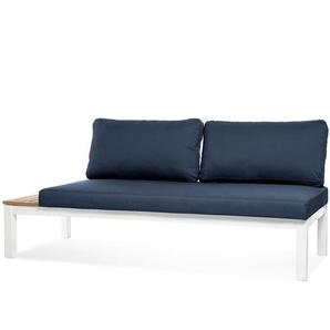 Gartenlounge-Element mit Kissen, 3-Sitzer, 172x76x73cm, blau
