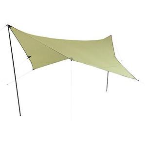10T Beechnut Tarp 3x3 Sonnensegel mit UV50+ Sonnenschutz Camping Sonnendach Outdoor Markise mit Aufstellstangen Abspannleinen Heringe, wasserdicht mit 2000mm Wassersäule