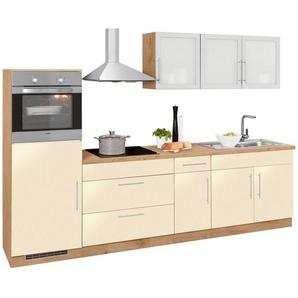 WIHO Küchen Küchenzeile »Aachen« ohne E-Geräte, Breite 290 cm, gelb