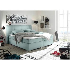 JUSTyou Jackson Boxspringbett Continentalbett Amerikanisches Bett Doppelbett Ehebett Gästebett Minze 180x200 cm