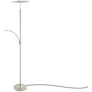 KHG LED-Deckenfluter, 2-flammig | silber | 180 cm | Möbel Kraft