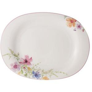 Villeroy & Boch Teller tief /Servierplatte Ø 42 MARIEFLEUR Basic Weiß mit farbigen Blüten