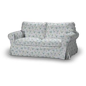 FRANC-TEXTIL 611-141-16 Sofabezug für Ektorp 2-Sitzer nicht ausklappbar, Mirella, blau / grau