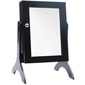 Schmuckschrank mit Spiegel schwarz