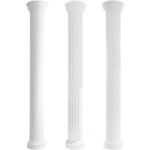 Säulen und Halbsäulen   Fassade   rund   Set Auswahl   405mm   LC103:Halbe Säule, Komplettset - PRESTIGE DECOR