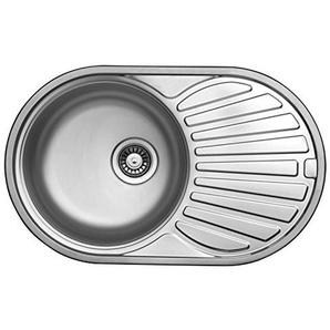 Edelstahlspüle 77x48cm mit Ablage Einbauspüle Edelstahl Waschbecken Küchenspüle