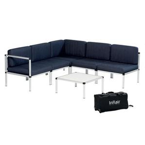 Inflair Lounge-Set Superior, Sitzgruppe faltbar, Lounge-Sofa Navy Blue