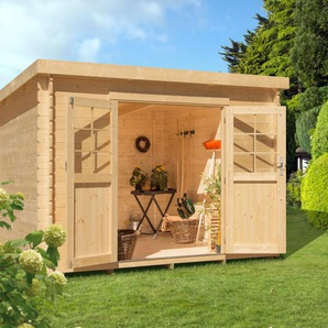 LUOMAN Gartenhaus »LV 475«, BxT: 340x280 cm, inkl. Aufbau und Fußboden, 28 mm Wandstärke