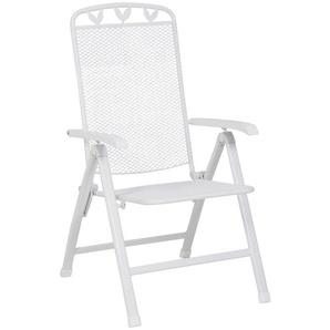 GREEMOTION Klappstuhl »Toulouse«, Stahl, verstellbar, klappbar, weiß