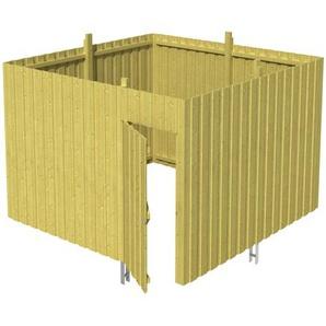 SKANHOLZ Skan Holz Abstellraum A2 für Carports 314 x 220 x 317 cm