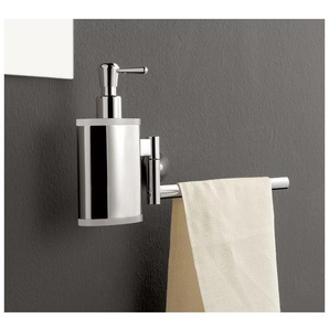 Seifenspender mit Handtuchhalter TL.Bath Kor 5528DX 5528SX | Recht - BLAU