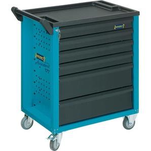 HAZET Assistent 177-6, Werkstattwagen, Werkzeugwagen, 6 Schubladen, 300 kg, blau