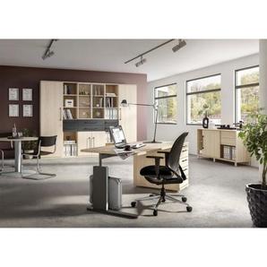 Bürokombination Eiche Nachbildung/Anthrazit