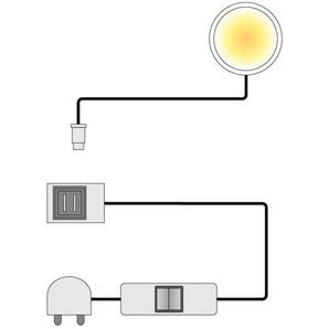 LED-Unterbauspot Floriano