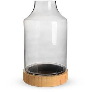Windlichtglas, 2-teilig, D:16cm x H:32cm, grau