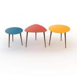 Couchtisch Gelb - Eleganter Sofatisch: Beste Qualität, einzigartiges Design - 50/59/60 x 44/50/50 x 50/61/60 cm, Konfigurator