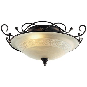 Home affaireDeckenlampe, braun, HOME AFFAIRE, Material: Glas