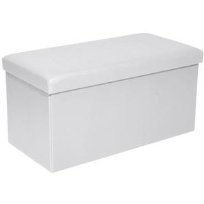 Sitzbox JONNY Lederlook Weiß
