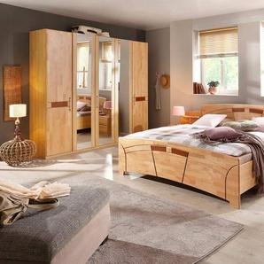 Home affaire Schlafzimmer-Set »Sarah«, (Set, 4-tlg), mit Bett 180/200 und 5-oder 6-trg. Schrank