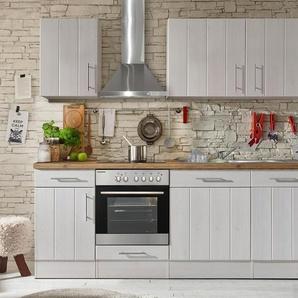 respekta-Premium-Küchenblock »Landhaus« - weiß - Holz -