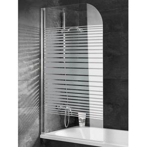 Schulte Badewannenaufsatz 1-teilig 80 cm x 140 cm Echtglas Streifen Alunatur