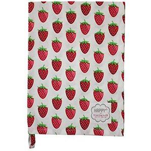 Krasilnikoff - Küchentuch/Geschirrtuch - Erdbeeren - weiß - Baumwolle - 50x70 cm