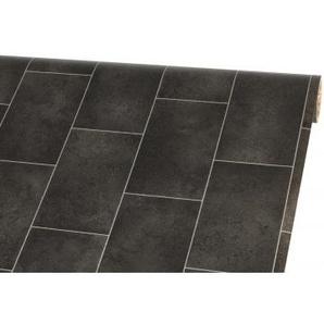Vinylboden Rapido, Fliese Schwarz, ca. 200 cm