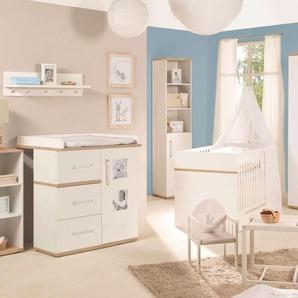 JUSTyou Urban Kinderzimmer-Set Kinderzimmermöbel Komplett Weiß Sanremo Eiche