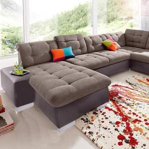 Sit&more Wohnlandschaft, braun, B/H/T: 355x41x67cm, hoher Sitzkomfort