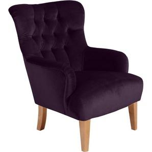 Max Winzer® Chesterfield-Sessel »Bradley«, mit edler Knopfheftung, lila
