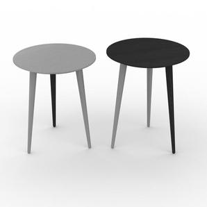 Couchtisch Wenge, Holz - Eleganter Sofatisch: Beste Qualität, einzigartiges Design - 40/40 x 47/50 x 40/40 cm, Konfigurator